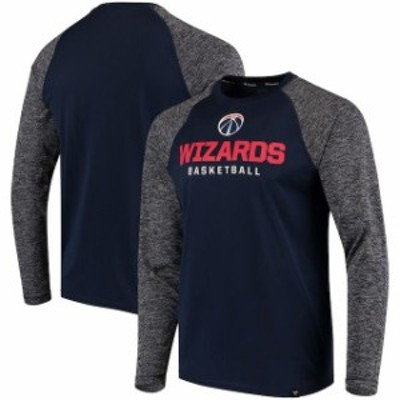 Fanatics Branded ファナティクス ブランド スポーツ用品  Fanatics Branded Washington Wizards Navy Static Long Sleeve T-Shirt