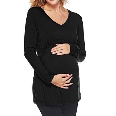 レディース 衣類 トップス Women's Maternity Long Sleeve V Neck Pullover Breastfeeding Tops ブラウス&シャツ