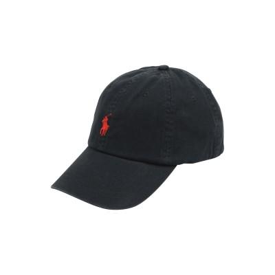 POLO RALPH LAUREN 帽子 ブラック one size コットン 100% 帽子