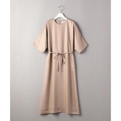 ドレス BY DRESS サテンドルマンスリーブ5分袖ドレス