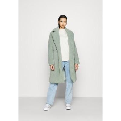 ニュールック レディース コート アウター FASHION BORG LONGLINE COAT - Winter coat - light green light green