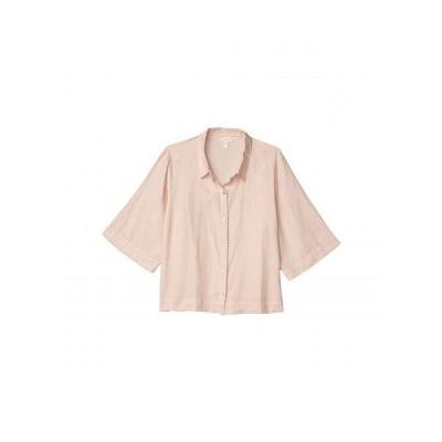 Eileen Fisher アイリーンフィッシャー レディース 女性用 ファッション ブラウス Plus Size Classic Collar Shirt - Powder