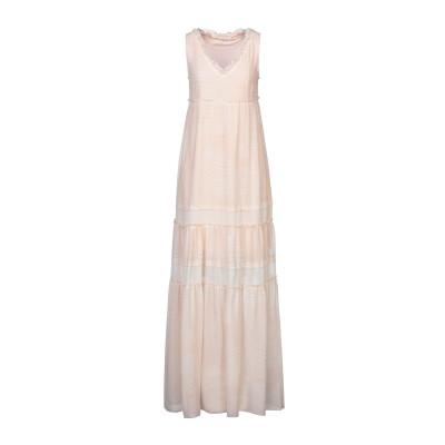 LUCKYLU  Milano ロングワンピース&ドレス ライトピンク 40 ポリエステル 100% ロングワンピース&ドレス