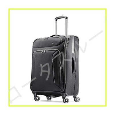 American Tourister Zoom Softside Luggage with Spinner Wheels, Black, Checked-Large 28-Inch 並行輸入品