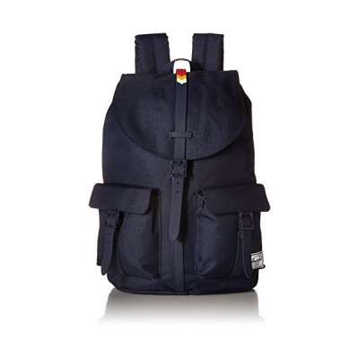 Herschel Unisex Dawson Backpack Black/Brown, One Size, Peacoat/Rainbow Chevron Rubber (Blue) - 10233-01867-OS 並行輸入品