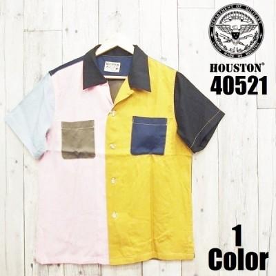 ヒューストン クレイジーボーリングシャツ HOUSTON EASY NAVY 40521 メンズ アメカジ