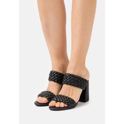 スティーブマデン レディース 靴 シューズ TANGLE - Heeled mules - black