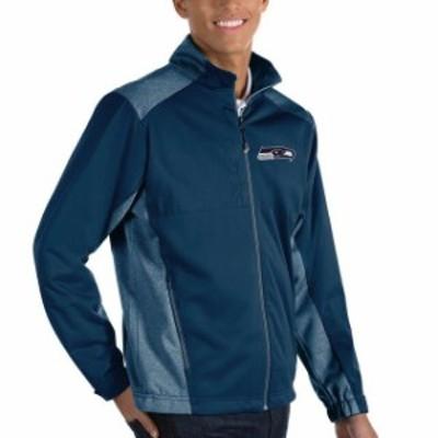Antigua アンティグア アウターウェア ジャケット/アウター Antigua Seattle Seahawks Heather Navy Revolve Big & Tall Full-Zip Jacket