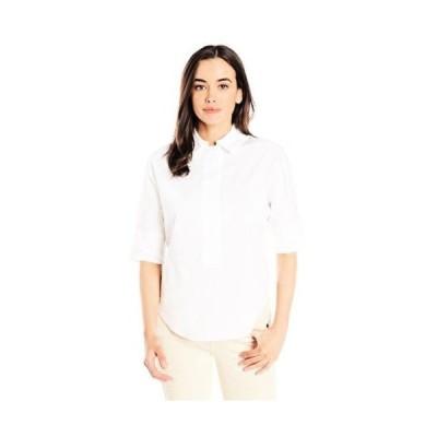 トップス ブラウス アンクライン AK Anne Klein レディース コレクション 607582 3/4 スリーブ Shirting. White