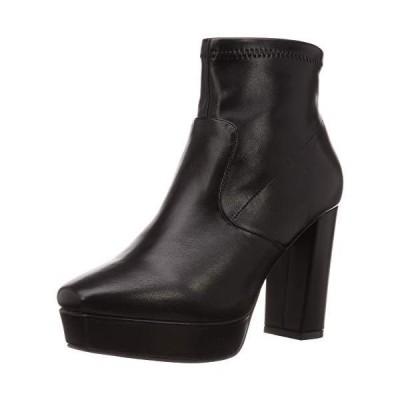 [ランダ] ブーツ ストレッチショートブーツ レディース KC08502 BLACK 22.5 cm 2E