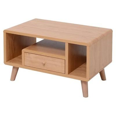 ローテーブル テーブル 机 座卓 引き出し付き 収納 北欧 木目 木製 一人暮らし FAP-0013-NA JKプラン メーカー直送