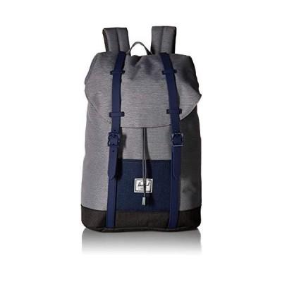 Herschel Kids' Retreat Backpack, Mid Grey Crosshatch/Medieval Blue Crosshatch/Black Crosshatch, Youth 並行輸入品