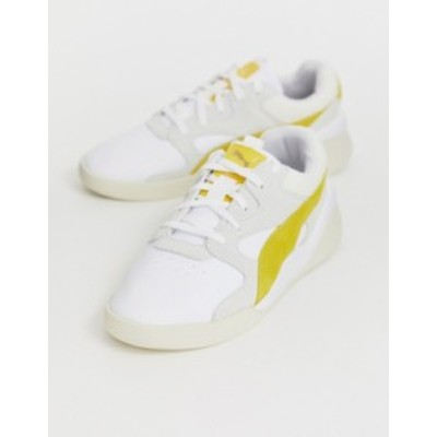 プーマ レディース スニーカー シューズ Puma Aeon Heritage white and mustard sneakers White