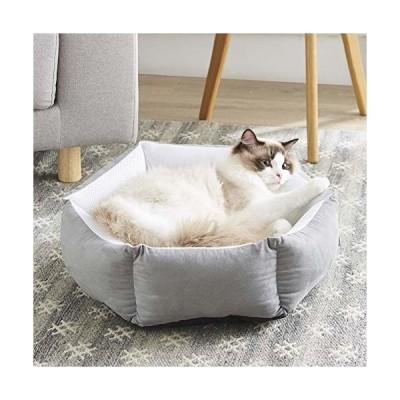 Western Home 犬猫用ペット ベッド メッシュ通気性いいソファー 夏用マット クッション 洗える おしゃれ グレー
