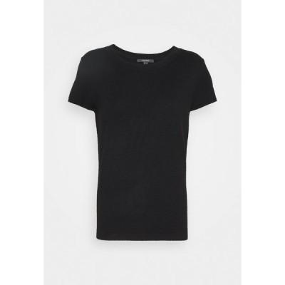 エスプリ Tシャツ レディース トップス ECO VERO  - Basic T-shirt - black