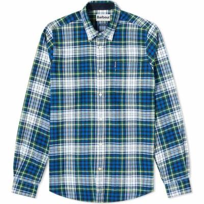バブアー Barbour メンズ シャツ トップス highland check 34 tailored shirt Bright Blue