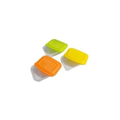 まとめ売り プラスチック 保存容器 カラフルライトパック 500ml 3個組 【×3セット】 [▲][TP]