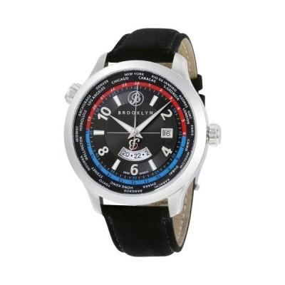 腕時計 ブルックリンウォッチ Brooklyn カジュアル Cadman スイス クォーツ GMT メンズ 腕時計