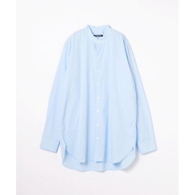 【トゥモローランド】 160/2コットンブロード スタンドカラーロングシャツ メンズ 61サックスブルー 48 TOMORROWLAND