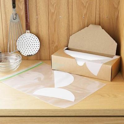 フリーザーバッグ(マチ無し 冷蔵 冷凍対応) Lサイズ A4サイズがピッタリ入る 1箱(30枚入) ロハコ(LOHACO) オリジナル
