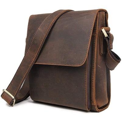 Ariga ショルダーバッグ メンズ 本革 牛革 斜め掛けバッグ メッセンジャーバッグ 鞄 通勤 通学 レザー