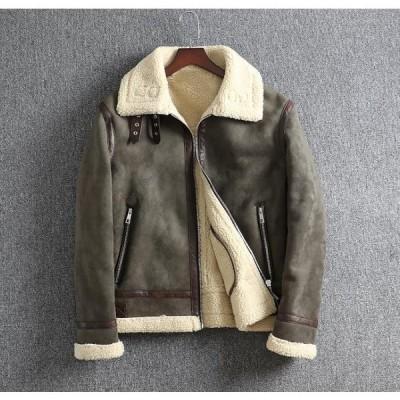 BGYGHKK希少新品!男性コート一枚毛皮 冬コートメンズジャケット肉厚綿入れジャケット防寒良品