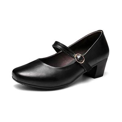 [ziitop] パンプス レディース 黒 パンプス ウォーキングシューズ パンプス ウェッジソール 4cmヒール 軽量 作業靴 疲れにくい 長時間立