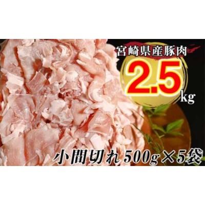 豚小間切れ 2.5kg 小分け5パック【宮崎県産】<1-211>
