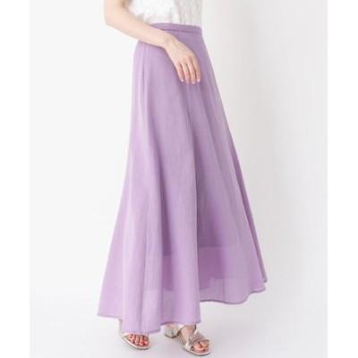 リネン混ロングマーメイドスカート