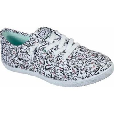 スケッチャーズ レディース スニーカー シューズ Women's Skechers BOBS B Cute Feline Artsy Sneaker White/Multi