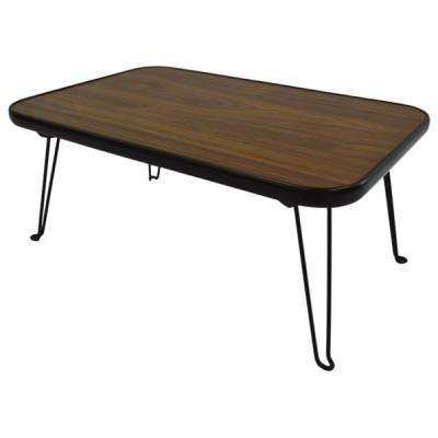 大竹産業 折りたたみスクエアテーブル 角型 長方形 45×30cm(ブラウン) OTG-A06 返品種別A