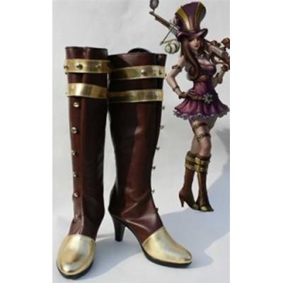 Gargamel コスプレ靴 League of Legends Caitlyn コスプレブーツm1395
