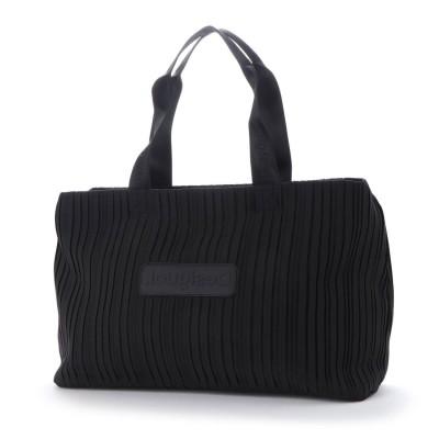 デシグアル Desigual ショルダーバッグ DUFFLE BAG PLEATS BLACK (グレー/ブラック)