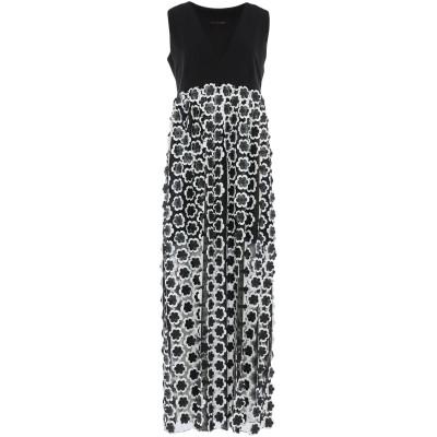 FRANCESCA CONOCI ロングワンピース&ドレス ブラック S ナイロン 80% / ポリウレタン 20% ロングワンピース&ドレス