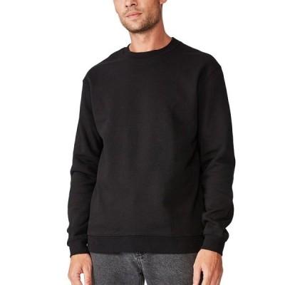 コットンオン ニット&セーター アウター メンズ Men's Essential Crew Fleece Black