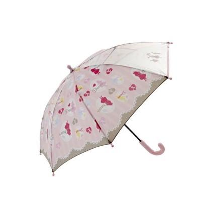 (BACKYARD/バックヤード)ATTAIN アテイン 女児 グラスファイバー骨 安全手開き 長傘 45cm/レディース ピンク