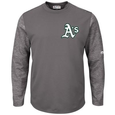 オークランド・アスレチックス Majestic Alternate Authentic Tech Fleece Pullover スウェットシャツ - Graphite