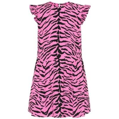 イヴ サンローラン Saint Laurent レディース ワンピース ワンピース・ドレス Zebra-print crepe minidress Bubble Noir