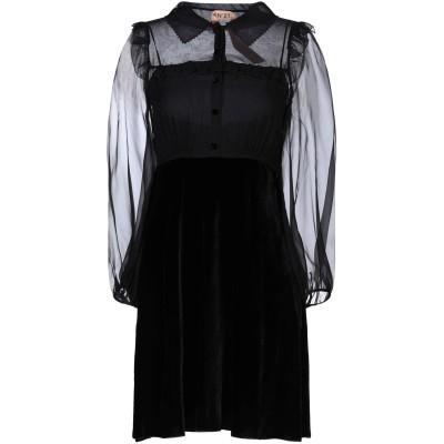 ヌメロ ヴェントゥーノ N°21 ミニワンピース&ドレス ブラック 40 レーヨン 82% / シルク 18% ミニワンピース&ドレス
