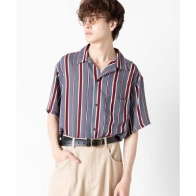 ウィゴー(メンズ)(WEGO)/マルチストライプ開襟シャツ
