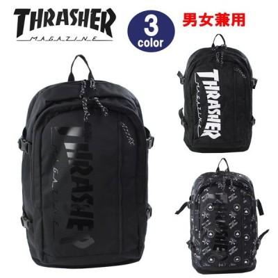 THRASHER スラッシャー バッグ リュック THR-101 ロゴデザイン デイバッグ リュックサック 男女兼用 ag-299200