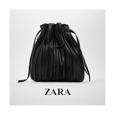 ザラ ZARA プリーツ加工入りバケットバッグ / 取寄品