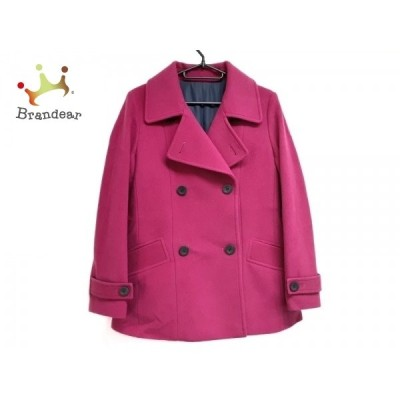 ダーマコレクション DAMAcollection Pコート サイズ7AR S レディース 美品 ピンク 冬物 新着 20200916