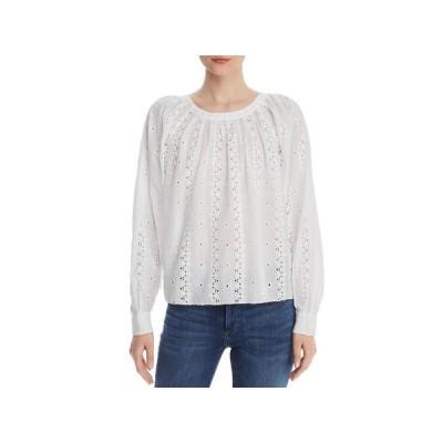 レディース 衣類 トップス Joie Womens Cotton Eyelet Peasant Top White XXS ブラウス&シャツ