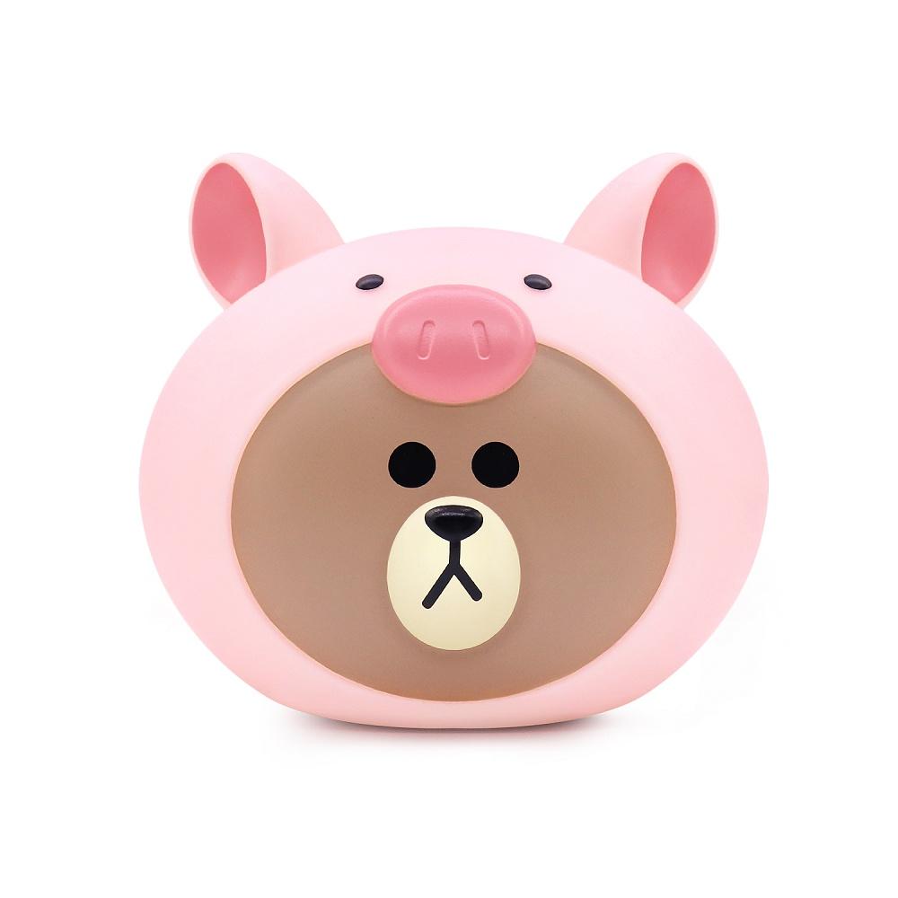 小豬熊大 公仔存錢筒