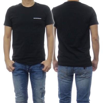 EMPORIO ARMANI UNDERWEAR エンポリオアルマーニアンダーウェア メンズクルーネックTシャツ 110853 0A510 ブラック