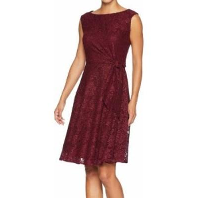 Tahari タハリ ファッション ドレス Tahari by ASL Womens Red Size 10 Glitter Floral Lace Sheath Dress