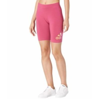 アディダス レディース ハーフパンツ・ショーツ ボトムス Gradient Logo Bike Shorts Wild Pink