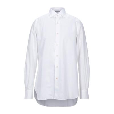 マーロ MALO シャツ ホワイト 42 コットン 70% / リネン 30% シャツ