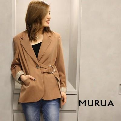 MURUA ムルーア アシメベルトジャケット 012020100201